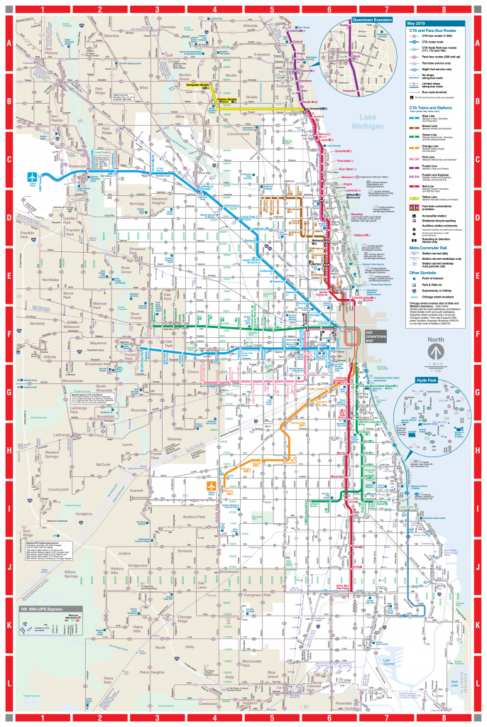 Web-Based System Map - Cta pertaining to Printable Walking Map Of Downtown Chicago