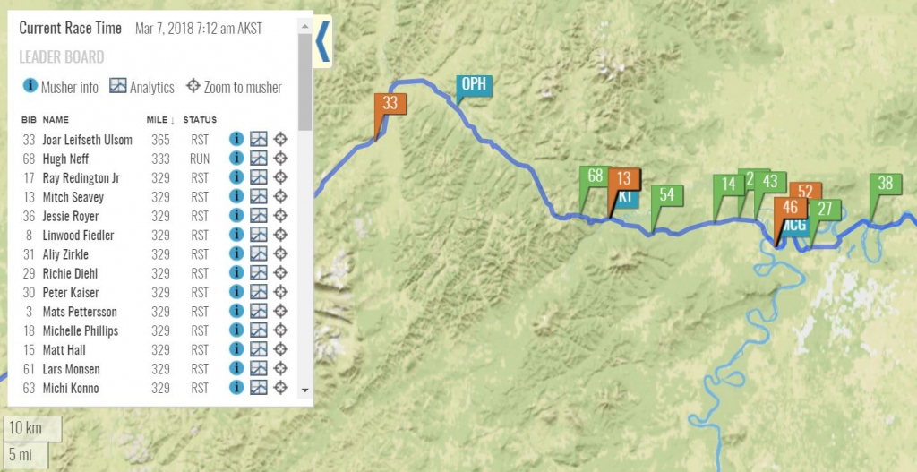 Wednesday Morning Update. 24H Rest Strategies Are Forming. Joar Up regarding Printable Iditarod Trail Map