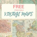 Wonderful Free Printable Vintage Maps To Download | Create With Create Printable Map
