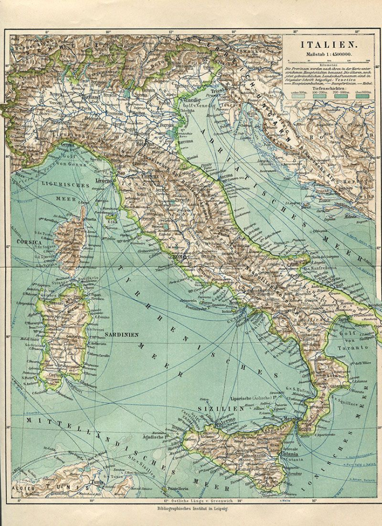 Wonderful Free Printable Vintage Maps To Download | ༺♥༻ Italy throughout Vintage Map Printable