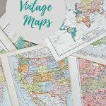 Wonderful Free Printable Vintage Maps To Download   Pillar Box Blue Regarding Free Printable Maps