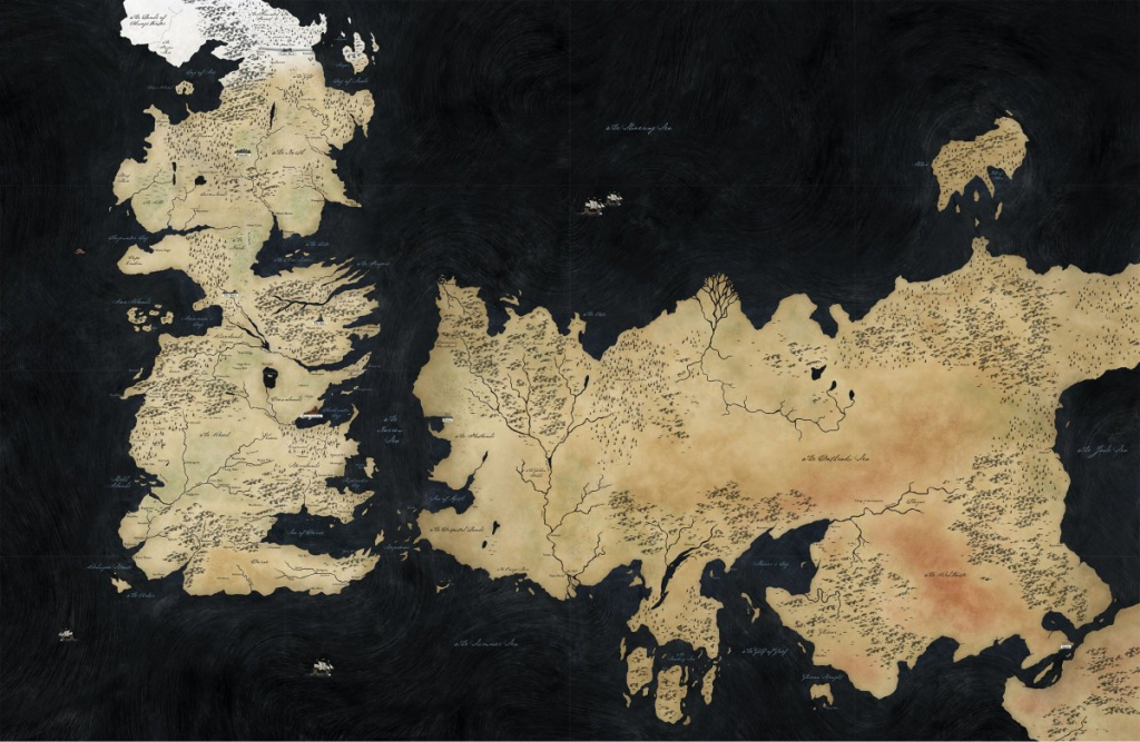 World Map (Hbo Game Of Thrones) - A Wiki Of Ice And Fire pertaining to Game Of Thrones Printable Map