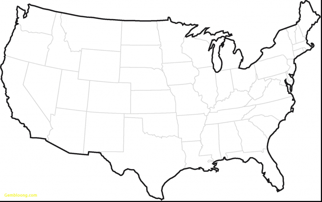 World Map Of Us And Canada World Map United States Beautiful Blank with regard to Free Printable Blank Map Of The United States