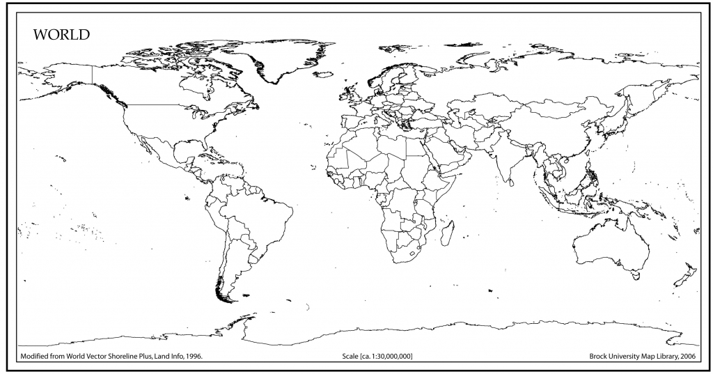 World Map Outline With Countries   World Map   World Map Outline intended for World Political Map Printable