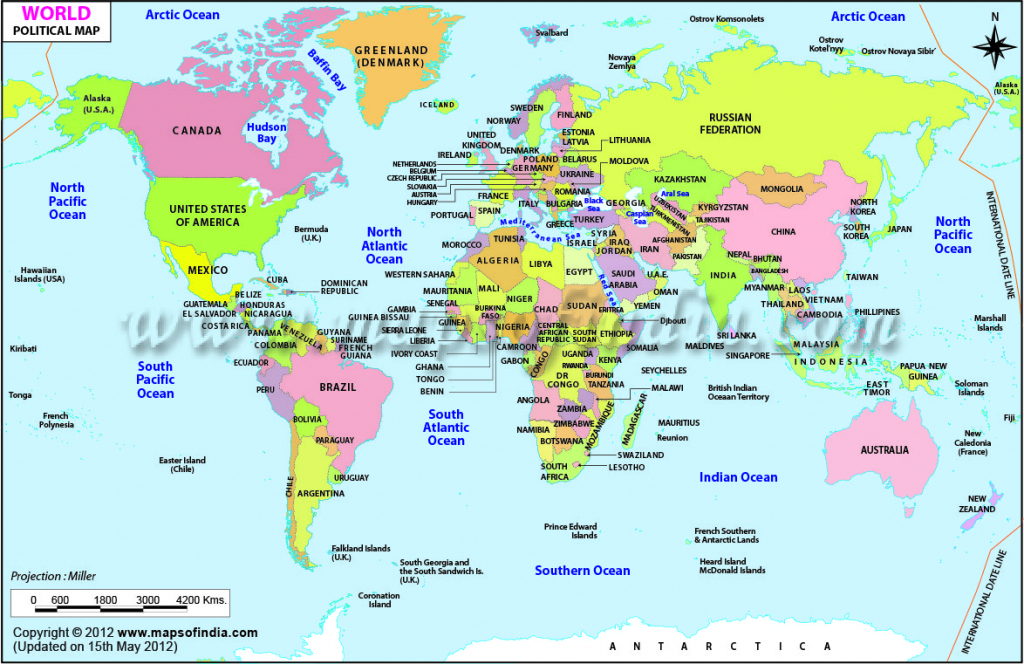 World Map Printable, Printable World Maps In Different Sizes throughout Full Page World Map Printable