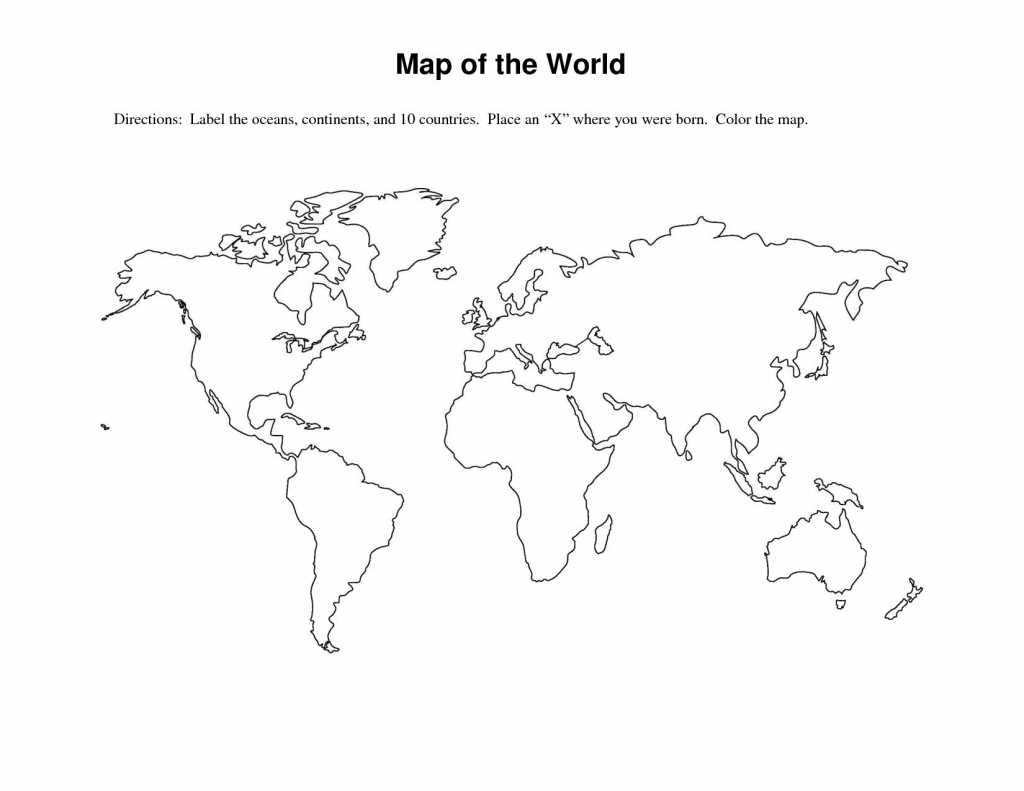 World Map Worksheet - Free Maps World Collection intended for Free Printable World Map Worksheets