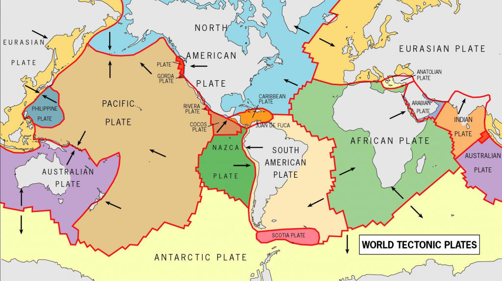 World Tectonic Plates And Their Movement - Yahoo Image Search within World Map Tectonic Plates Printable