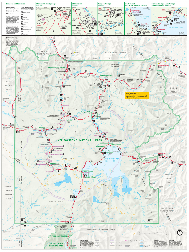 Yellowstone National Park Tourist Map ~ Yellowstone Up Close And inside Printable Map Of Yellowstone