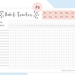 Daily Habit Tracker Free Printables | Tracker Free, Daily