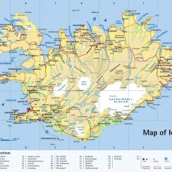 Detailed Road Map Of Iceland. | Tourist Map, Iceland Pics
