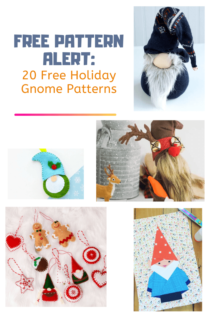 Easy Free Sewing Patterns: 20 Free Holiday Gnome Patterns