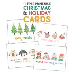 Fabulous Free Printable Christmas & Holiday Cards - The