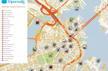 Free Printable Map Of Boston, Ma Attractions. | Boston
