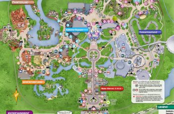 Great Printable Maps Of Disney World In 2020 | Disney World