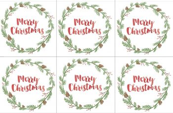 Hand Painted Gift Tags Free Printable - Kerstlabels