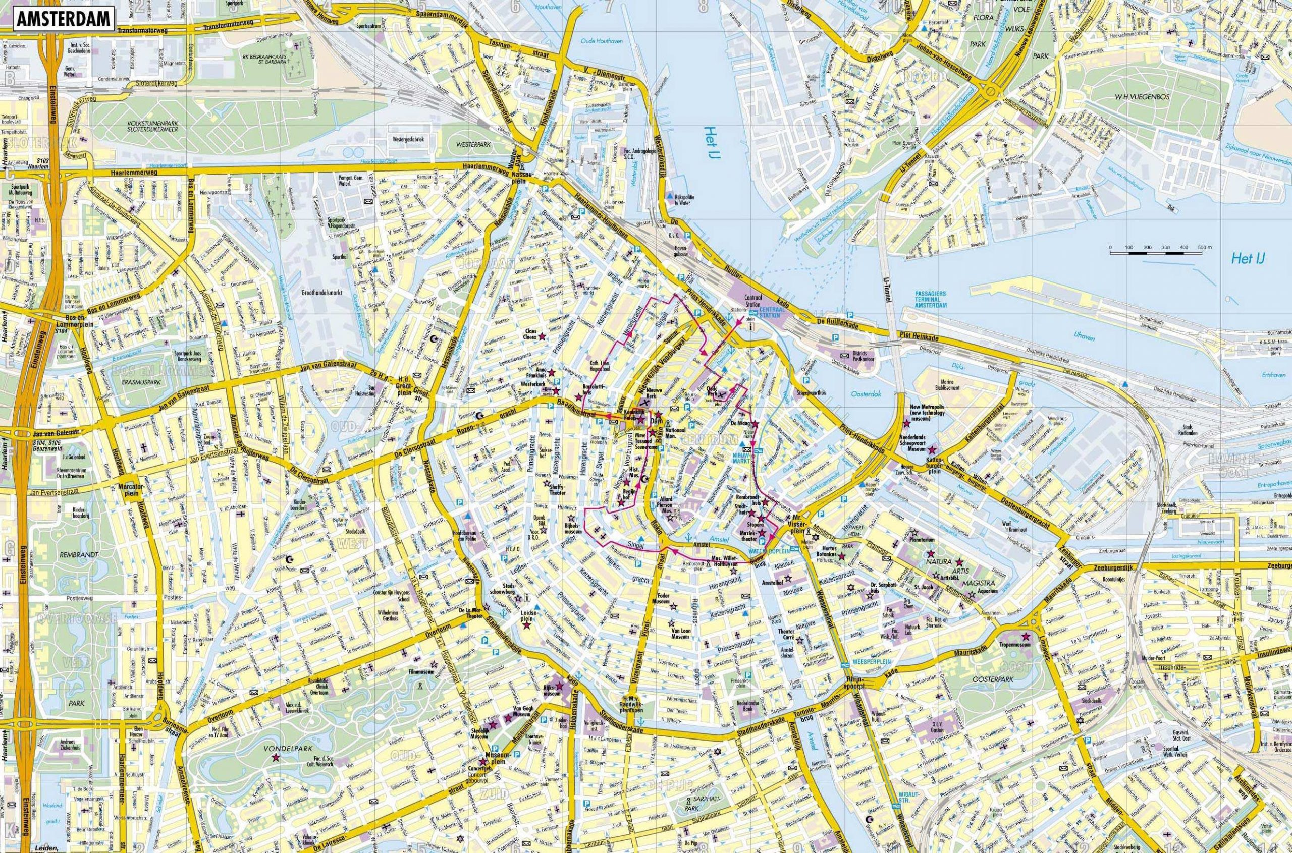 Large Amsterdam Maps For Free Download And Print   High