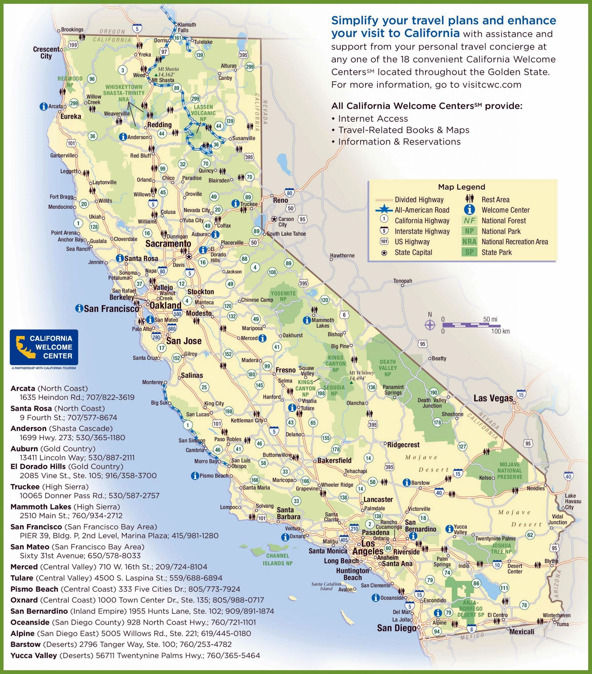 Large California Maps For Free Download And Print | High