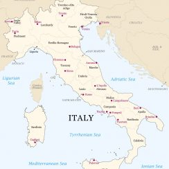 Printable Map Italy | Download Printable Map Of Italy With