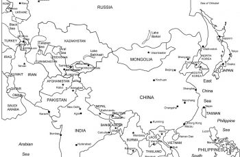Printable Outline Maps Of Asia For Kids | Asia Outline